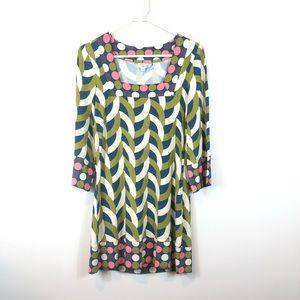 Boden Geometric Print Mod Jersey Mini Dress Tunic